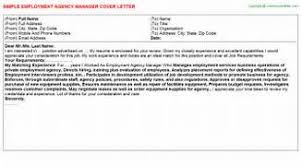 cover letter to employment agency bunch ideas of cover letter for