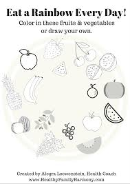 eat a rainbow coloring page