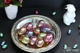glass easter egg ornaments plastic eggs to looking glass easter eggs hometalk