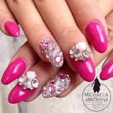 nails art fuschia nails by michaela jancikova nails pinterest