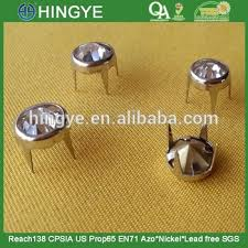 Where To Buy Decorative Nail Heads Metal Nail Head With Rhinestone Prong Studs For Handbag Shoes