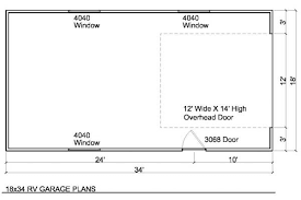 Rv Garage Floor Plans Rv Garage Plans With One Door Custom Garage Plans