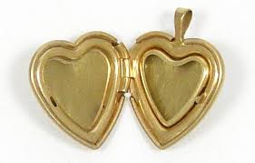heart shaped items vintage heart shaped locket ppc 14k gf