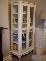 barker and stonehouse shabby chic tall glass cabinet in morley
