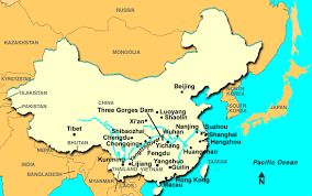 rivers in china map map of the yangtze river