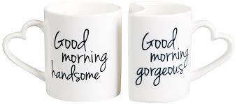 coffee mug ideas amazon com cathy u0027s concepts good morning coffee mug set white