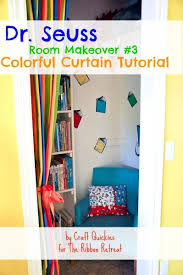 dr seuss room makeover 3 colorful curtains the ribbon retreat