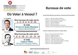 bureau de vote 15 où voter pour la primaire du parti socialiste le politique