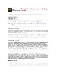 Investment Banking Resume Cover Letter For Oil And Gas Job Choice Image Cover Letter Ideas