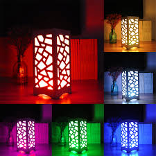 24 key remote control rgb led table light white art light polygon