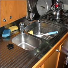 Refit Your Galley Learn From The Experience Of  Cruising Women - Kitchen sink with drying rack