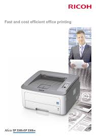 download free pdf for ricoh aficio sp3300dn printer manual