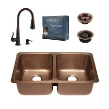 Price Pfister Ashfield Kitchen Faucet by Sinkology Pfister All In One Rivera Copper Undermount 32 In