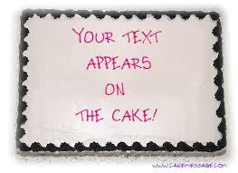 custom cake message maker