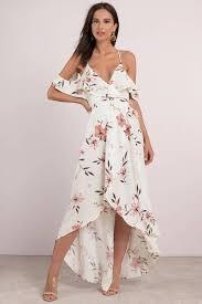 floral maxi dress sunset beige multi floral print maxi dress 47 tobi us