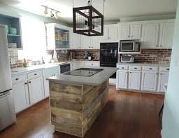 Kitchen Island Made From Reclaimed Wood by Custom Reclaimed Wood Interest Wall Or Island Covering By