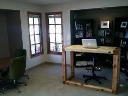 Wrap Around Computer Desk Get Things Done While Standing 10 Diy Standing Desk Designs To