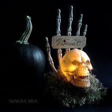 Halloween Skeleton Hands Magia Mia Halloween Skull U0026 Skeleton Hand Place Card Holders