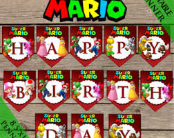 mario happy birthday etsy