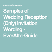 wedding reception only invitation wording sles of wedding reception only invitation wording