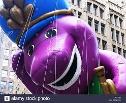 barney macys thanksgiving parade manhattan new york usa stock