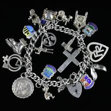 antique charm bracelet images Antique charm bracelet silver circa 1900 c 1900 united kingdom jpg