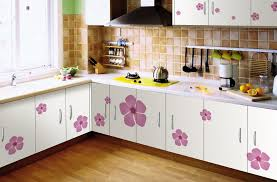 Kitchen Furniture Design Images Beautiful Flower Theme Modular Kitchen Modularkitchen Kitchen