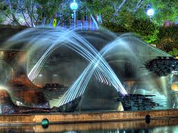 amazing water fountains and creative light ideas for cool garden