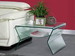 plateau de canapé bout de canapé plateau verre trempé courbé