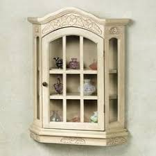 wall mounted curio cabinet hand painted gild 3 shelf wall mounted curio cabinet by norleans