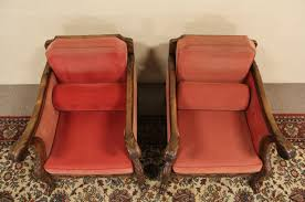 sold pair of carved lion paw 1920 antique scandinavian chairs