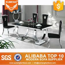 italian style luxury dining room furniture black marble top dining