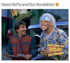 Doc Brown Meme - messi mcfly and doc ronaldinho back to the future doc brown