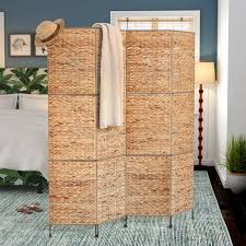 Wicker Room Divider Beachcrest Home Castine 67 X 60 Folding Screen 4 Panel Room
