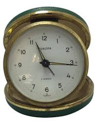 Vintage belgian travel alarm clock james reid home antiquities