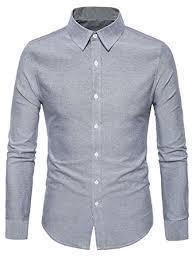 light grey dress shirt fensajomon mens basic solid button down slim fit long sleeve dress