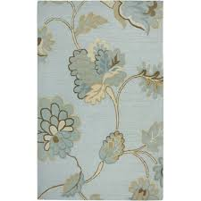 Rizzy Home Rugs Rizzy Home Dimension Hand Tufted Wool Light Blue Area Rug Wayfair