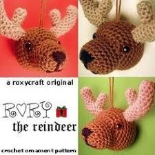rudolph the nosed reindeer ornament free amigurumi