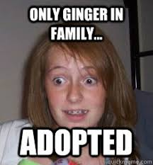 Braces Girl Meme - only ginger in family adopted braces quickmeme