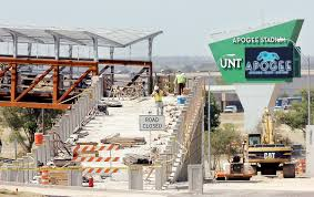 Unt Parking Map Unt Pedestrian Bridge Set To Open Oct 16 News Denton Record