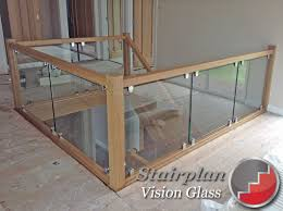 Banister Clips Glass Staircase Balustrade Oak Handrails Toughened Glass
