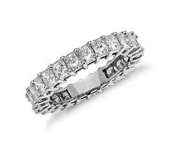 radiant cut engagement rings radiant cut eternity ring in platinum 3 ct tw blue nile