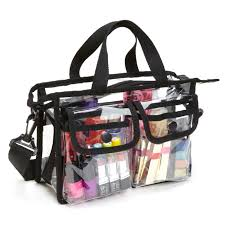 professional makeup carrier professional pvc makeup artist set bag w shoulder only