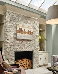 layer on the texture for a high style look stacked natural stone