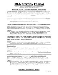 Essay Outline Mla Format Mla Research Paper With Citations