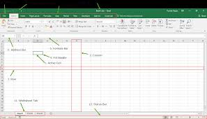 Spreadsheet Components An Introduction Guide To Microsoft Excel Basic Knowledge