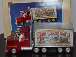 Semi Ornaments Here Comes Santa Semi Truck With Toys Santa Truck Santa S Big Rig