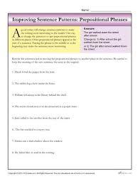 sentence patterns prepositional phrases prepositional phrases
