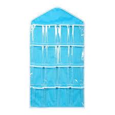 Over Door Closet Organizer - pixnor 16 pockets clear over door hanging bag shoe rack hanger