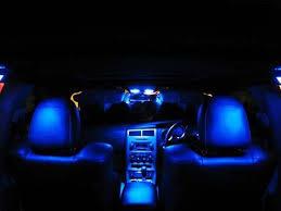 Colored Interior Car Lights Amazon Com Genssi Blue Led Lights Interior Package Kit For Dodge
